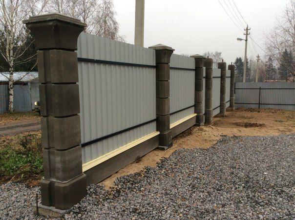 Столбы бетонные забор ярославль ролик для ворот цена в перми